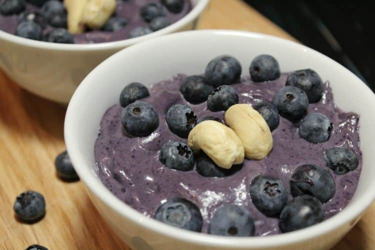Blueberry Cashew Custard