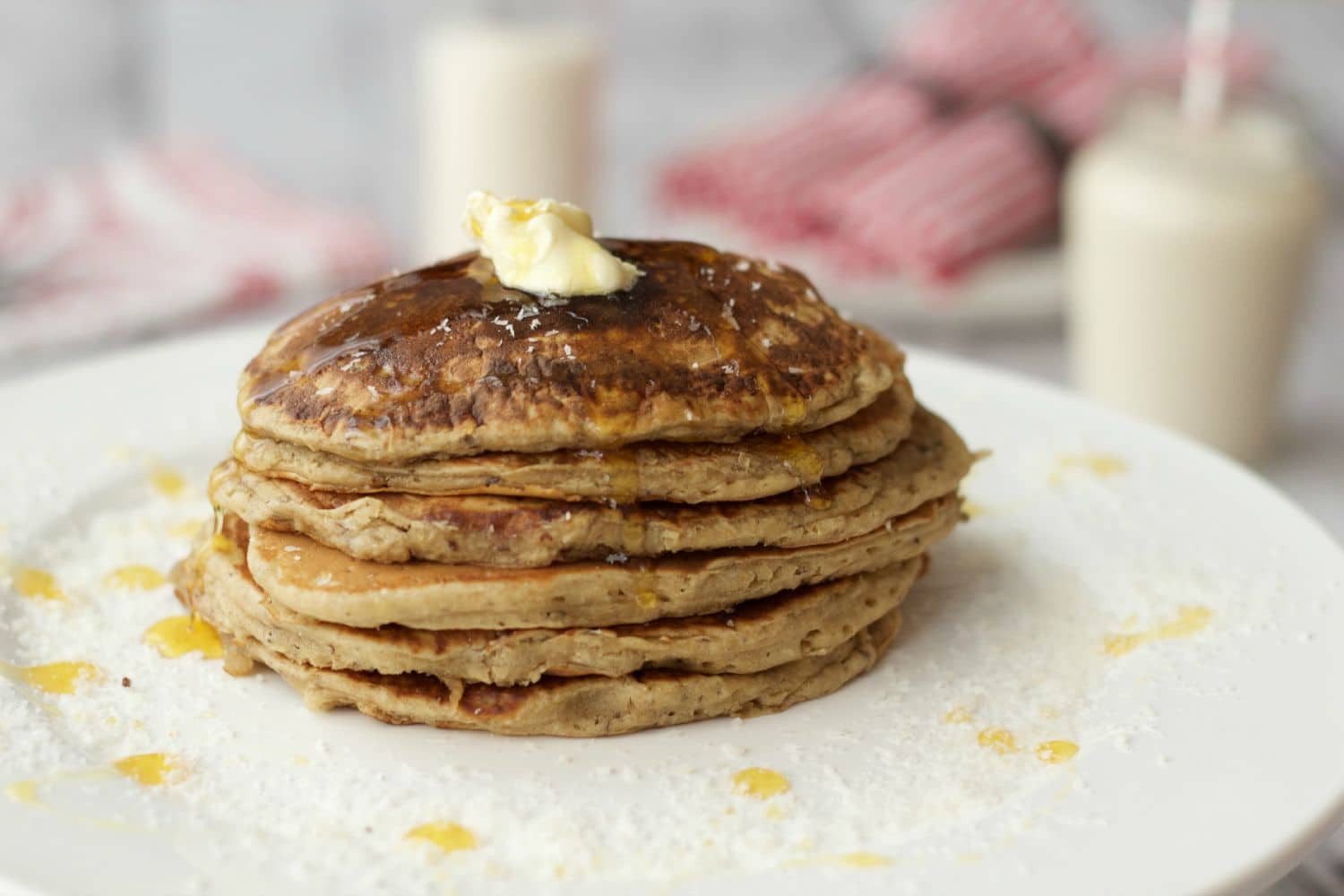Vegan Coconut Pancakes - fluffy, hearty, nutritious and delicious! #vegan #lovingitvegan #dairy-free