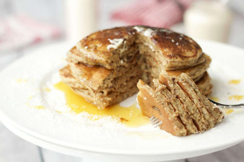 Vegan Coconut Pancakes - fluffy, hearty, nutritious and delicious! #vegan #lovingitvegan #dairy-free