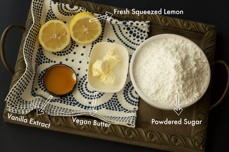 Ingredients for Lemon Buttercream Frosting #vegan #dairyfree #lovingitvegan #dessert