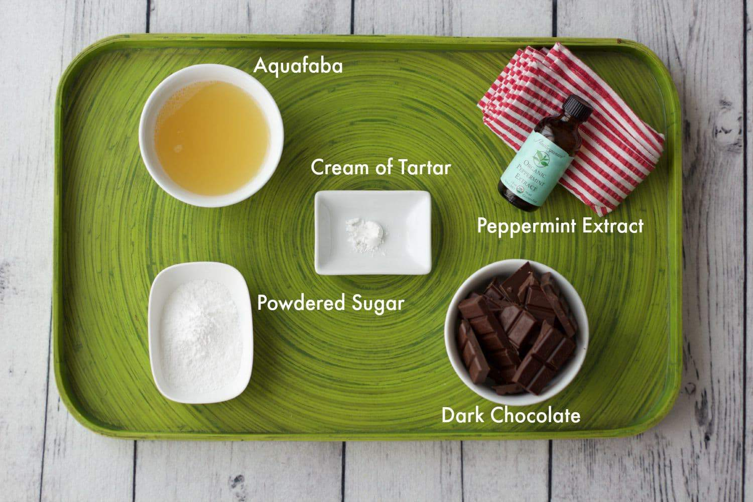 Vegan Peppermint Chocolate Mousse Ingredients #vegan #lovingitvegan