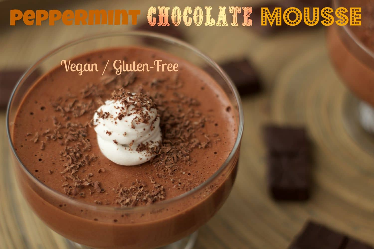 The best peppermint chocolate mousse EVER! #vegan #dairy-free #gluten-free #lovingitvegan