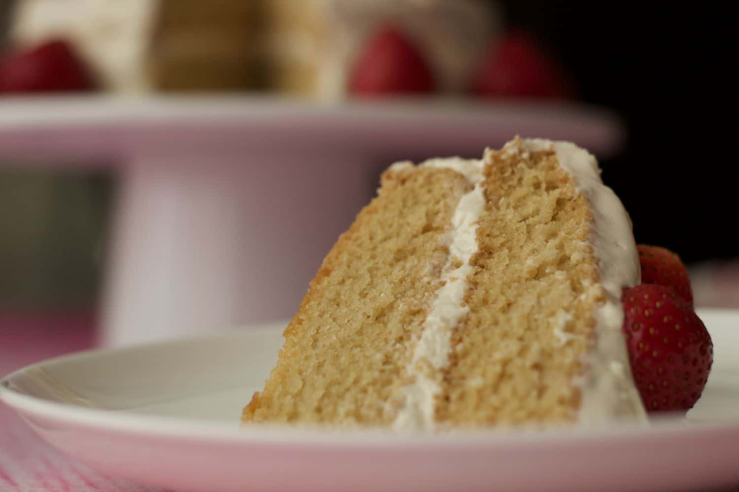 Vegan Vanilla Cake Light Fluffy And Dreamy