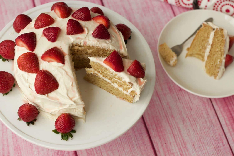 Light And Fluffy Vanilla Cake