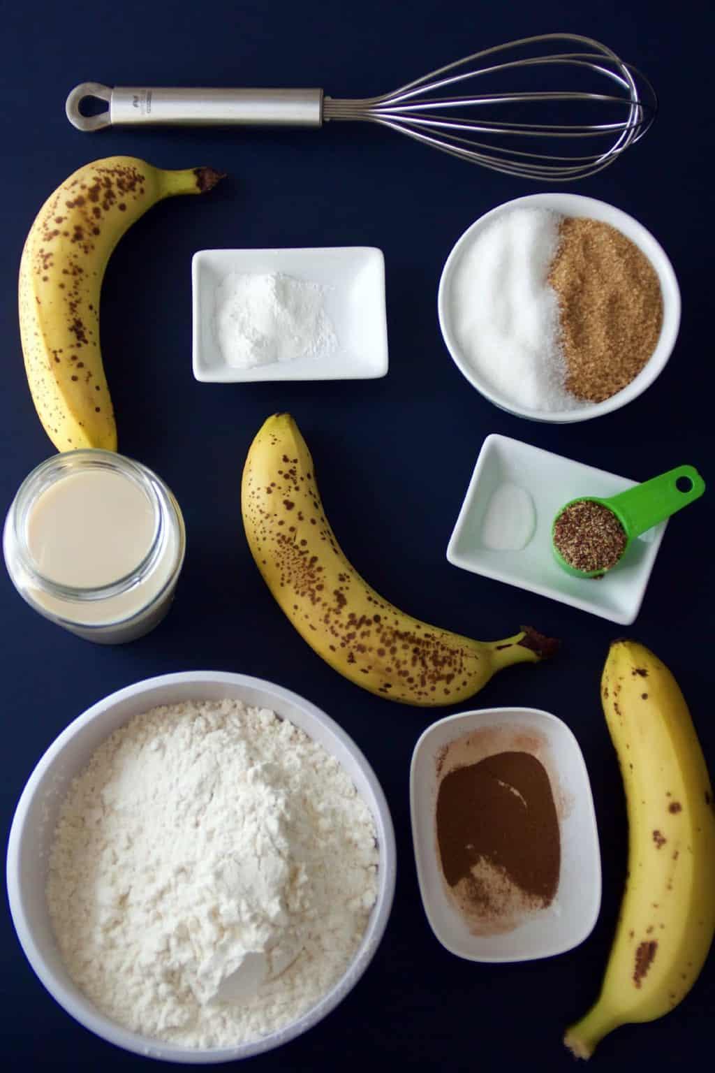 Vegan Banana Bread Ingredients #vegan #bananabread