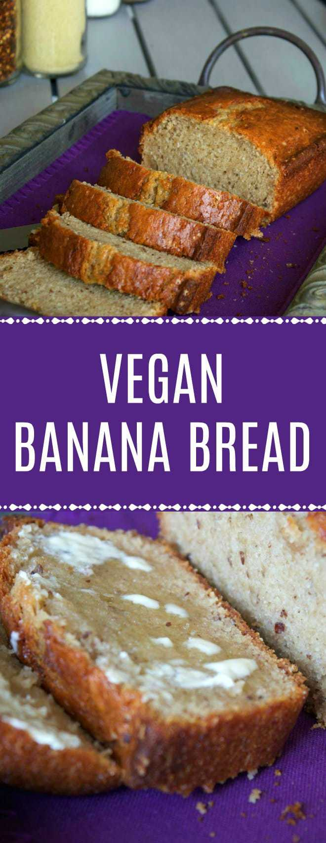 Simple Vegan Banana Bread - crispy on the outside, moist on the inside and delicious served warm from the oven with vegan butter! | lovingitvegan.com