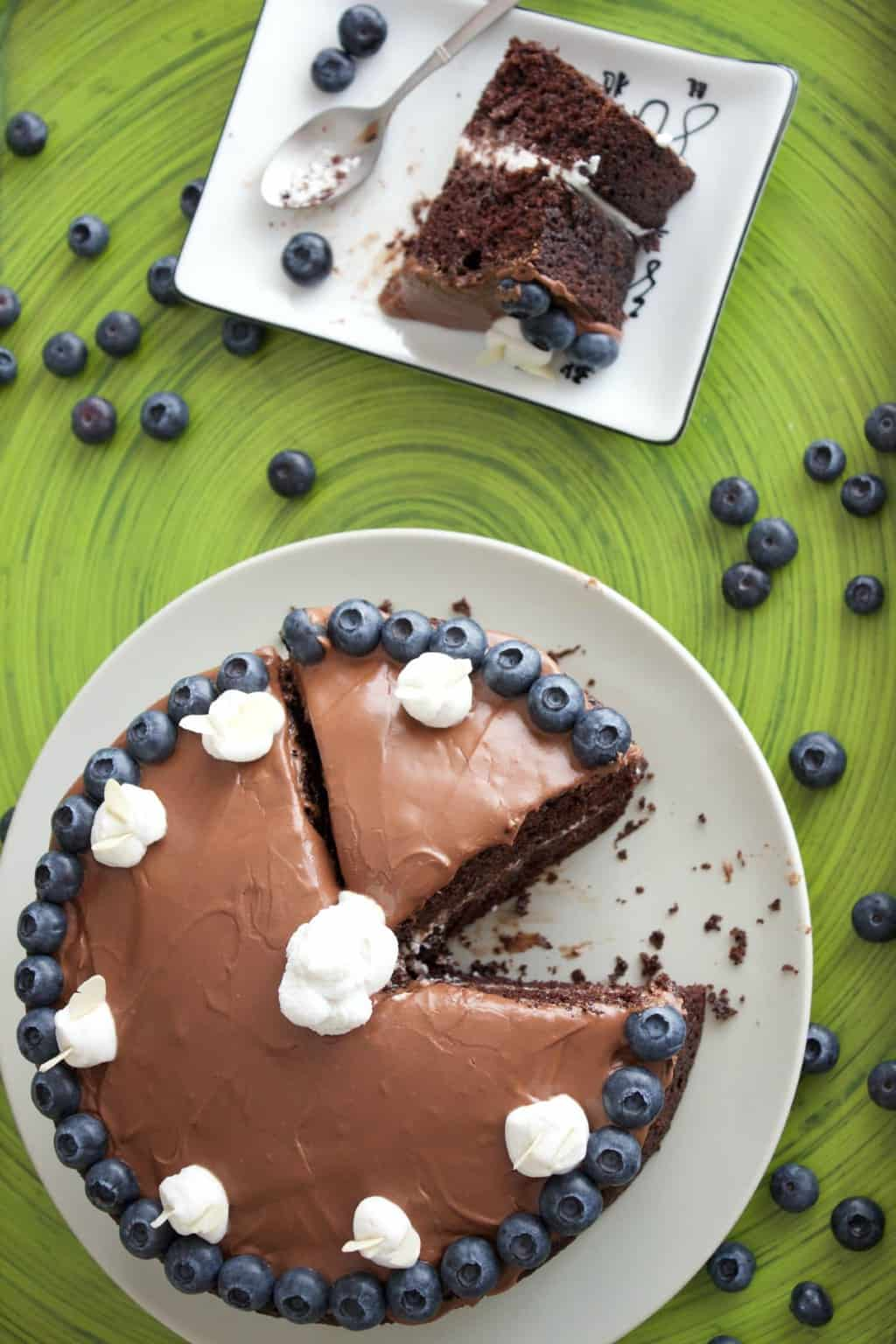 Easy Vegan Chocolate Cake - smooth, velvety, rich and perfect for special occasions! #Vegan #Dairy-Free