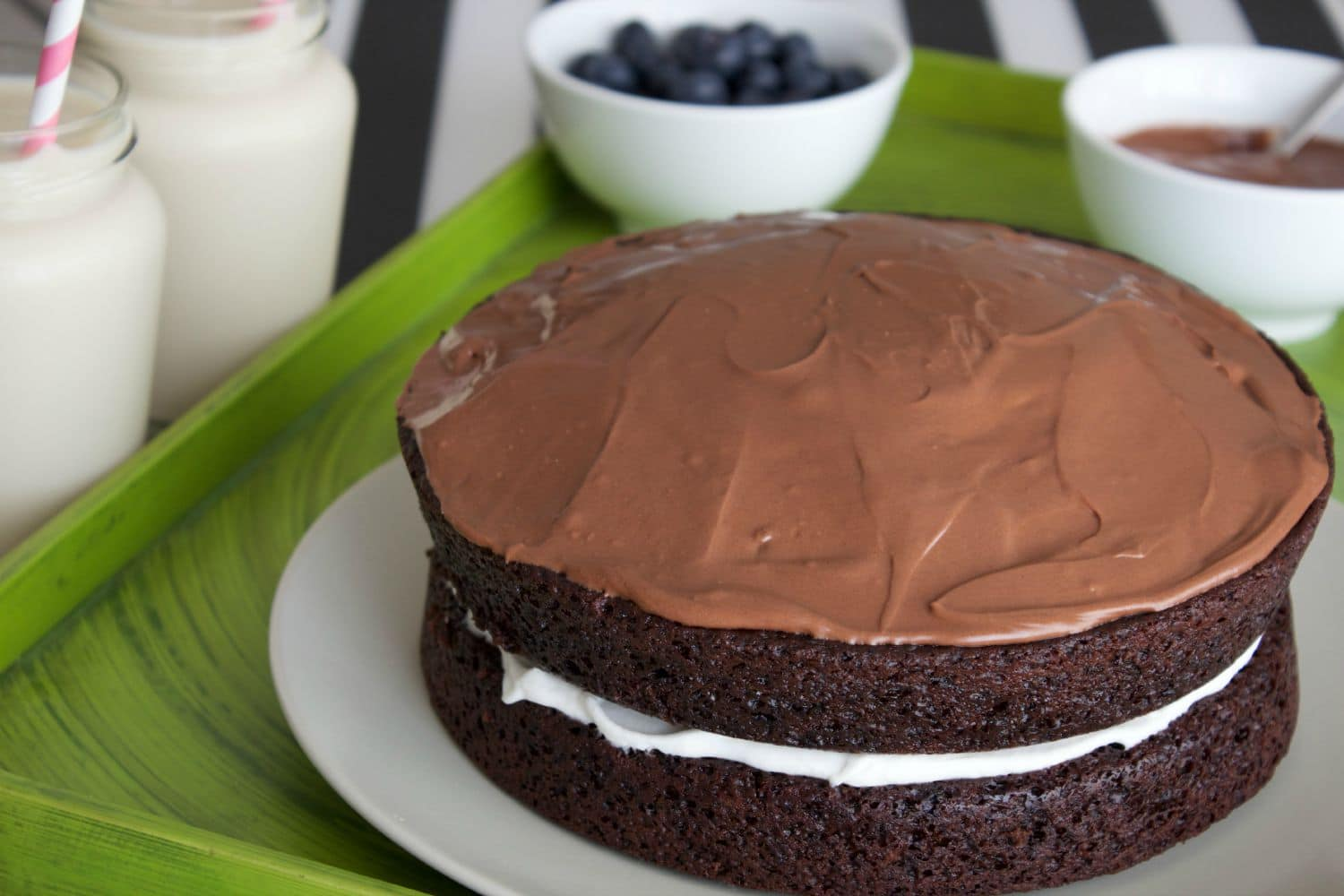 Vegan Chocolate Cake with Whipped Coconut Cream Center and Vegan ...