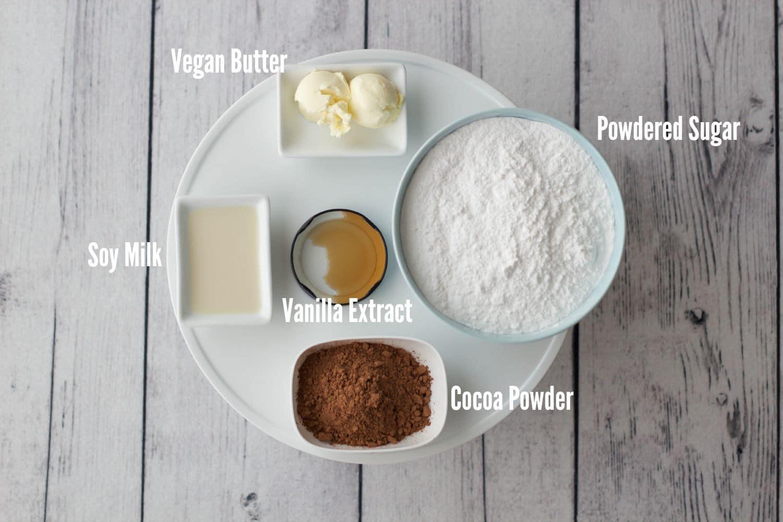 Vegan Chocolate Frosting Ingredients #vegan #dairy-free #gluten-free