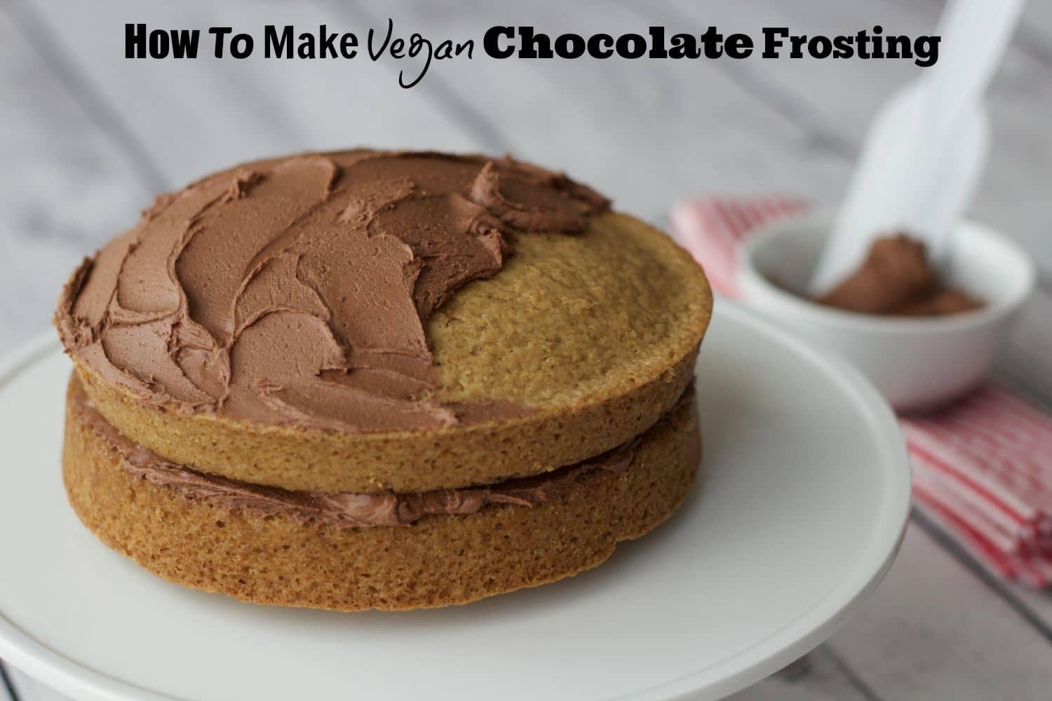 Easy step by step guide to making this frosting recipe in minutes! #vegan #gluten-free #dairy-free #chocolate #frosting