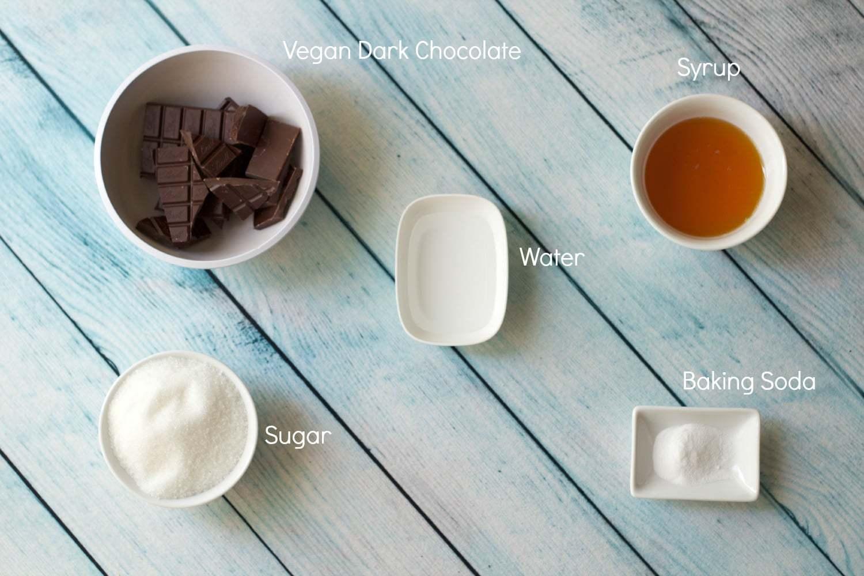 How to make DIY Honeycomb Crunchie Bars! #vegan #lovingitvegan