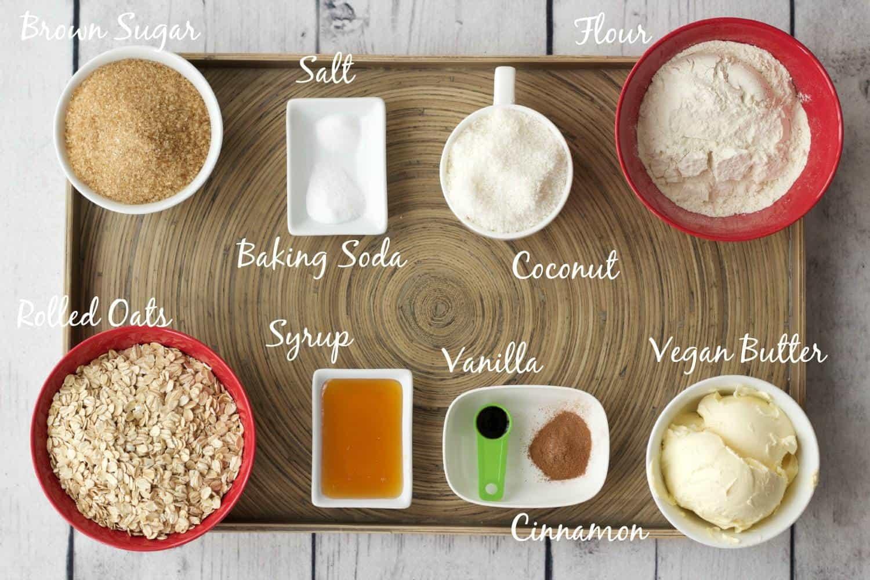 South African Oatmeal Crunchies - Ingredients. #vegan #lovingitvegan