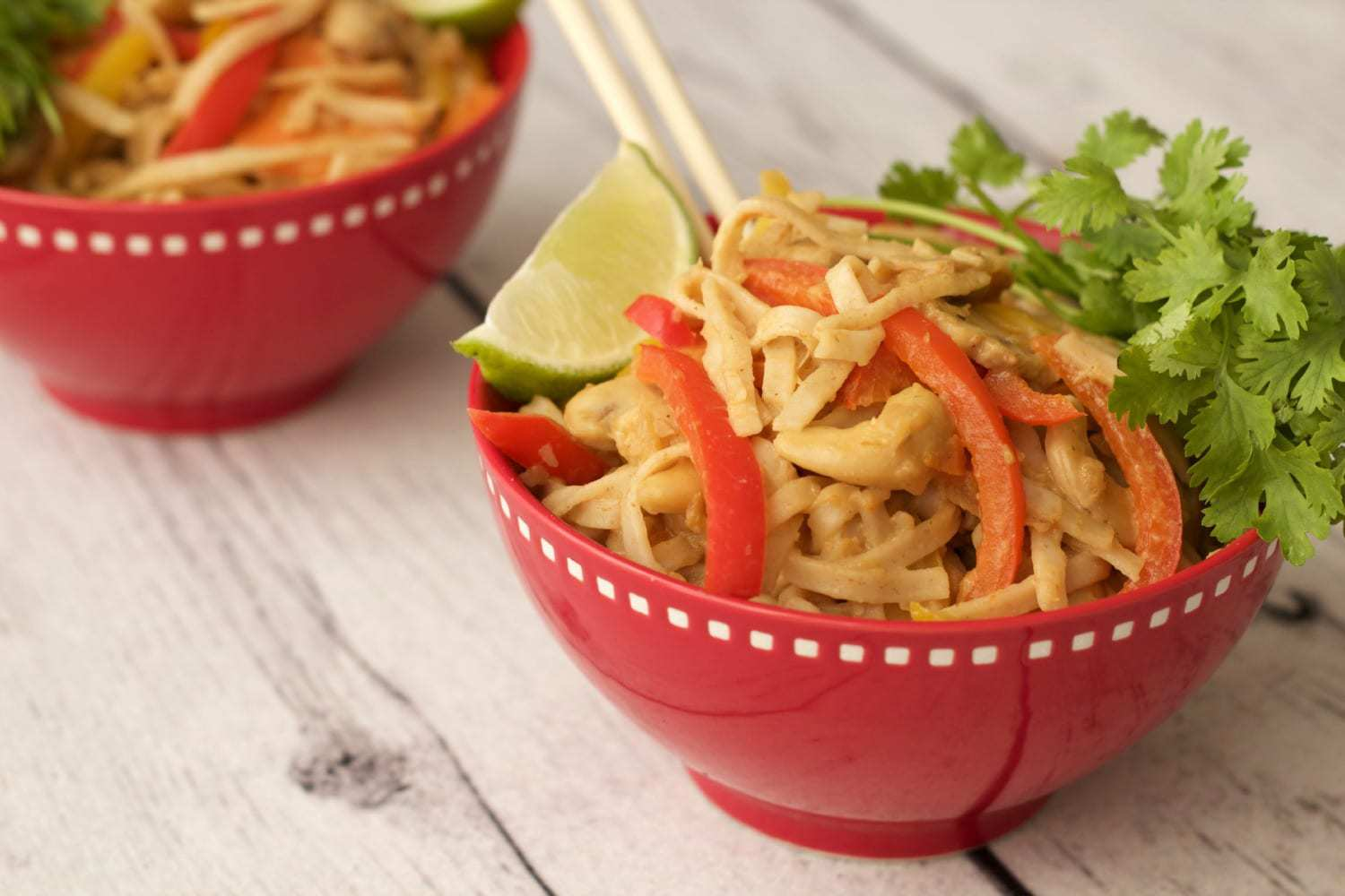 Easy Vegan Spicy Tahini Noodles #vegan #lovingitvegan