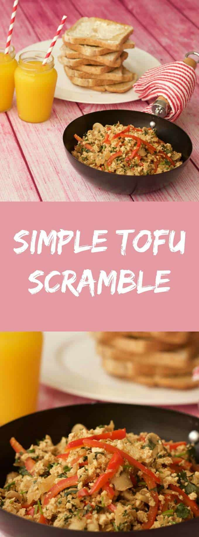 Vegan Tofu Scramble - ideal for breakfast or brunch served with hot toast and fresh squeezed orange juice! #vegan #dairy-free #lovingitvegan
