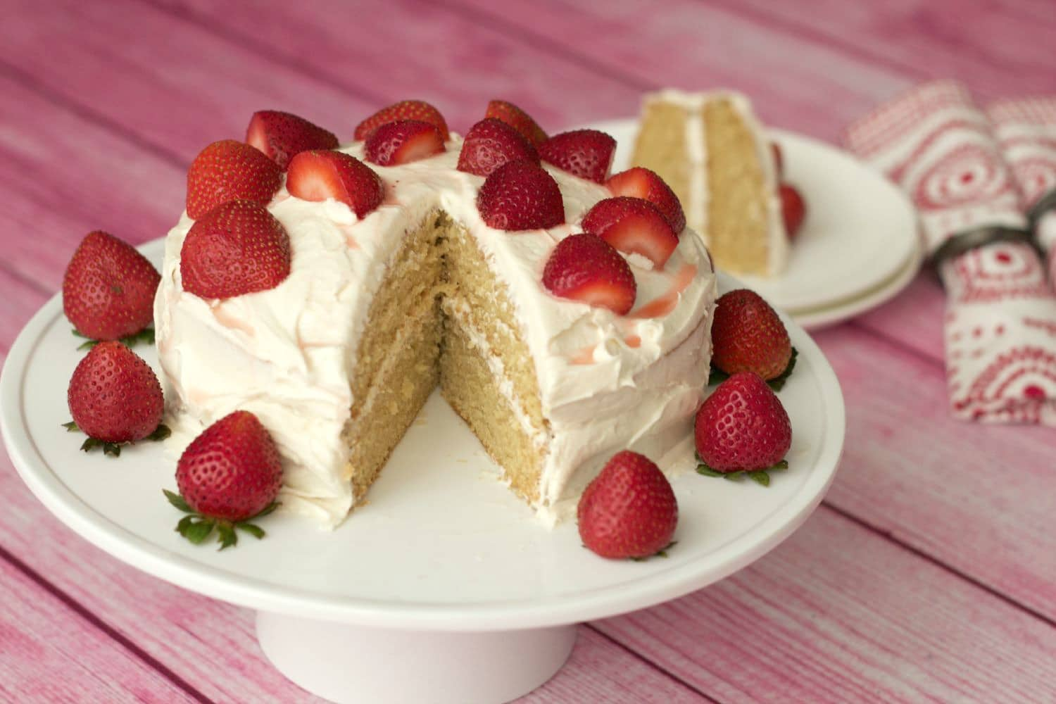 French Vanilla Raspberry Cake