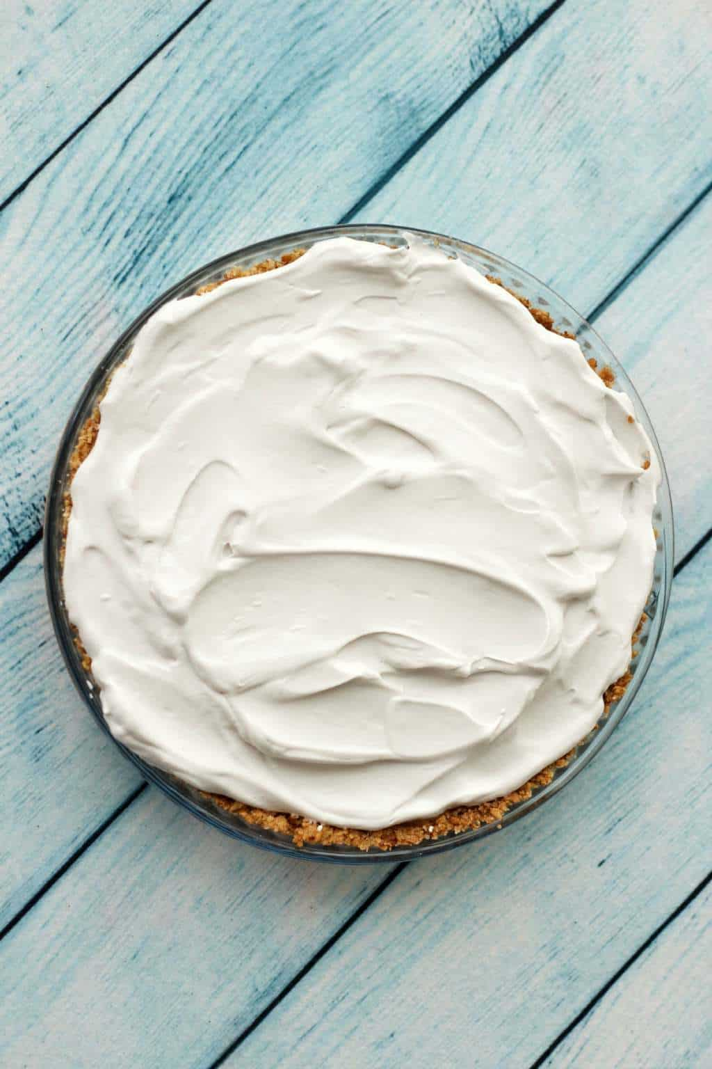 Making A Vegan Caramel Cream Pie - Whipped Coconut Cream Layer