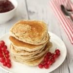 Vegan Pancakes with Jam and Cream