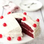 Vegan Red Velvet Cake with Lemon Buttercream Frosting