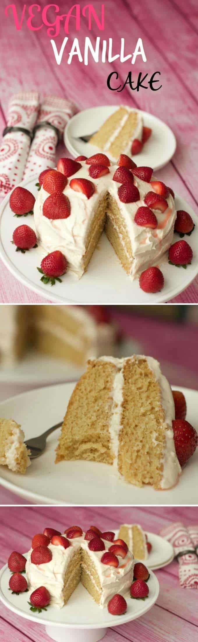 Vegan Vanilla Cake - Light, fluffy and dreamy! Vegan   dairy-free   Vegan Cakes   Vegan Desserts   Vegan Food   Vegan Recipes