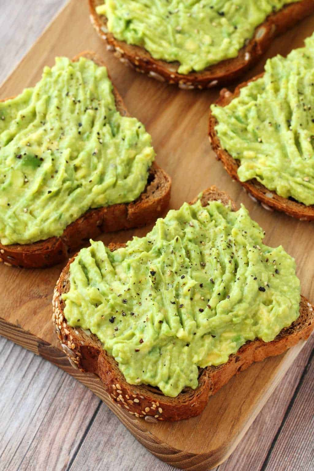 Avocado Toast topped with black pepper.
