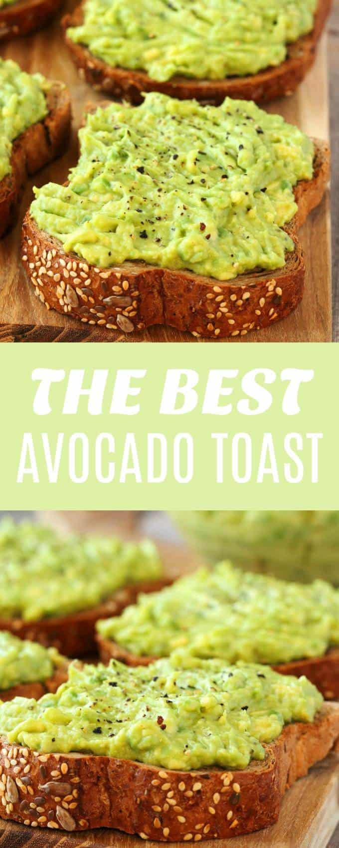 The most perfectly simple avocado toast recipe. Quick, easy and minimalist to ideally bring out the flavors. Great for breakfast or a healthy snack! | lovingitvegan.com