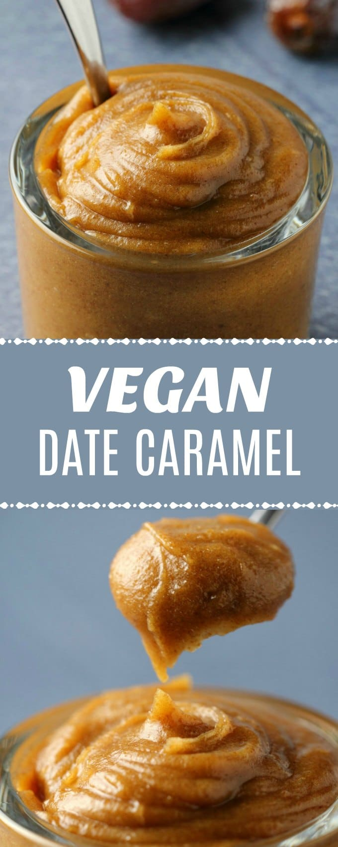 Easy 3-ingredient homemade date caramel that you can use as a pie filling, ice cream swirl or topping, on your oatmeal, or just eat it with a spoon! | lovingitvegan.com