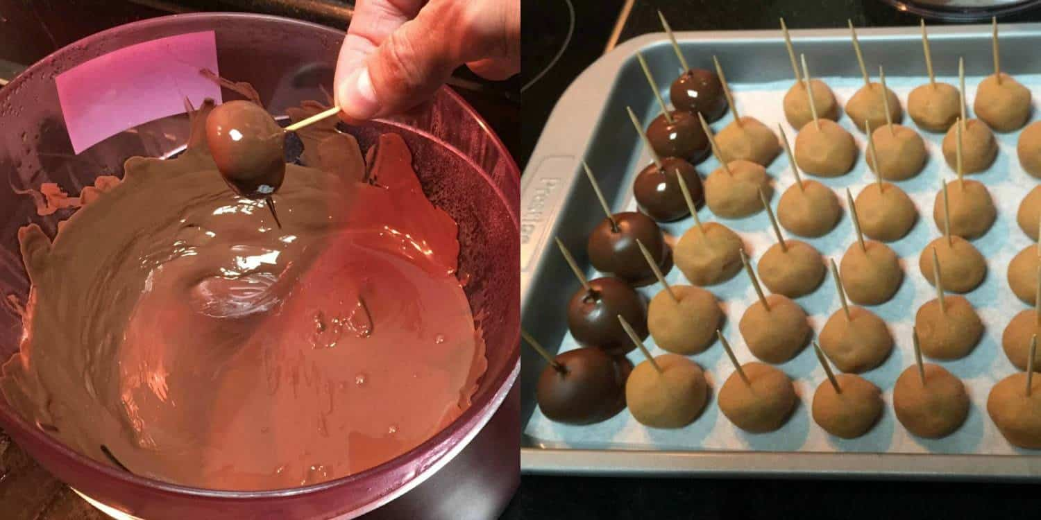 Making Chocolate Peanut Butter Balls #vegan #glutenfree #dairyfree