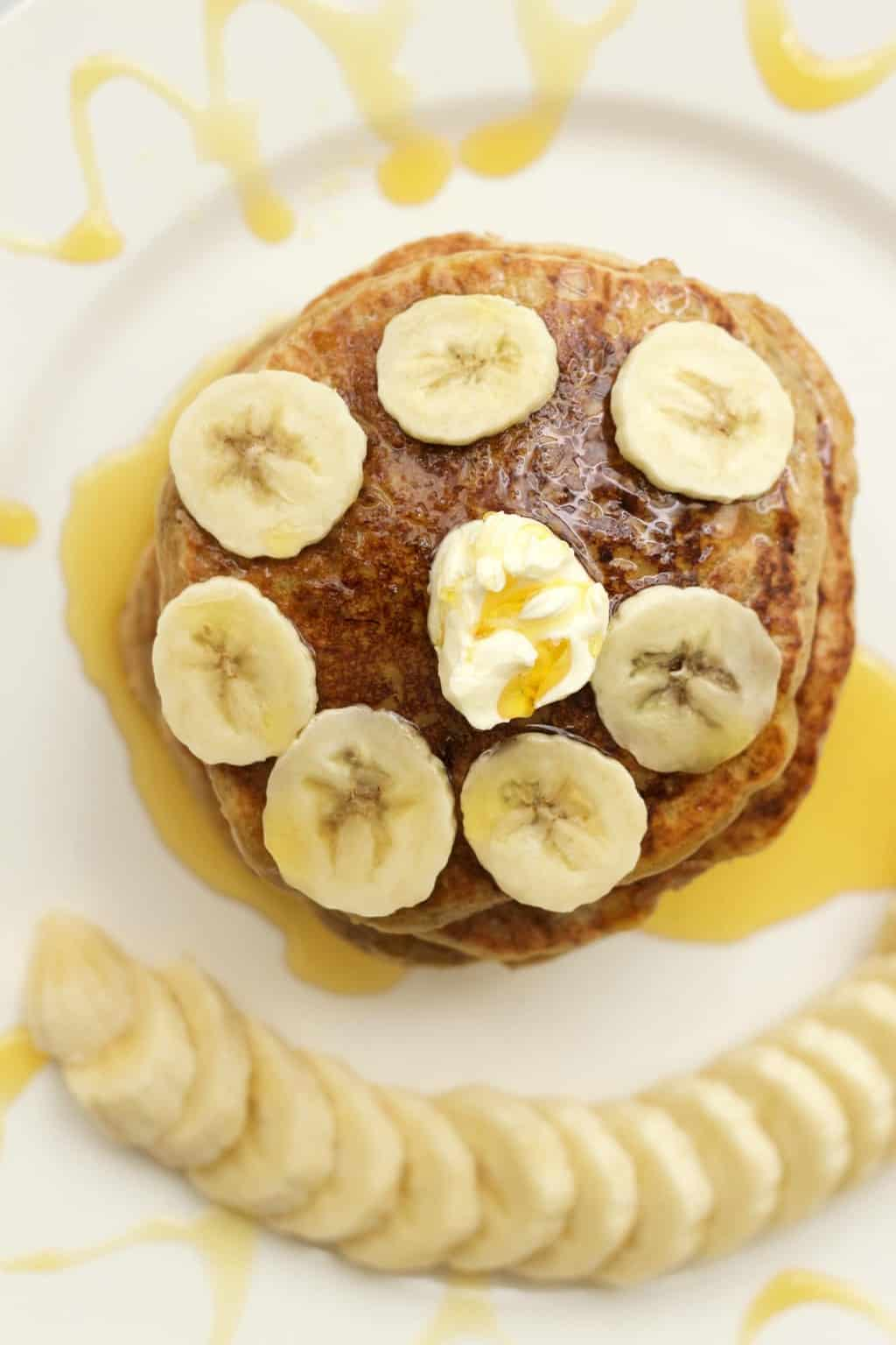 Gluten Free Vanilla Protein Pancakes #gluten-free #dairy-free #vegan #lovingitvegan