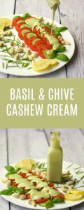 Sweet Basil and Chive Cashew Cream