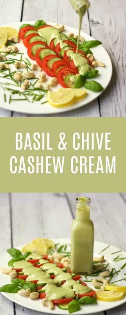Sweet Basil and Chive Cashew Cream