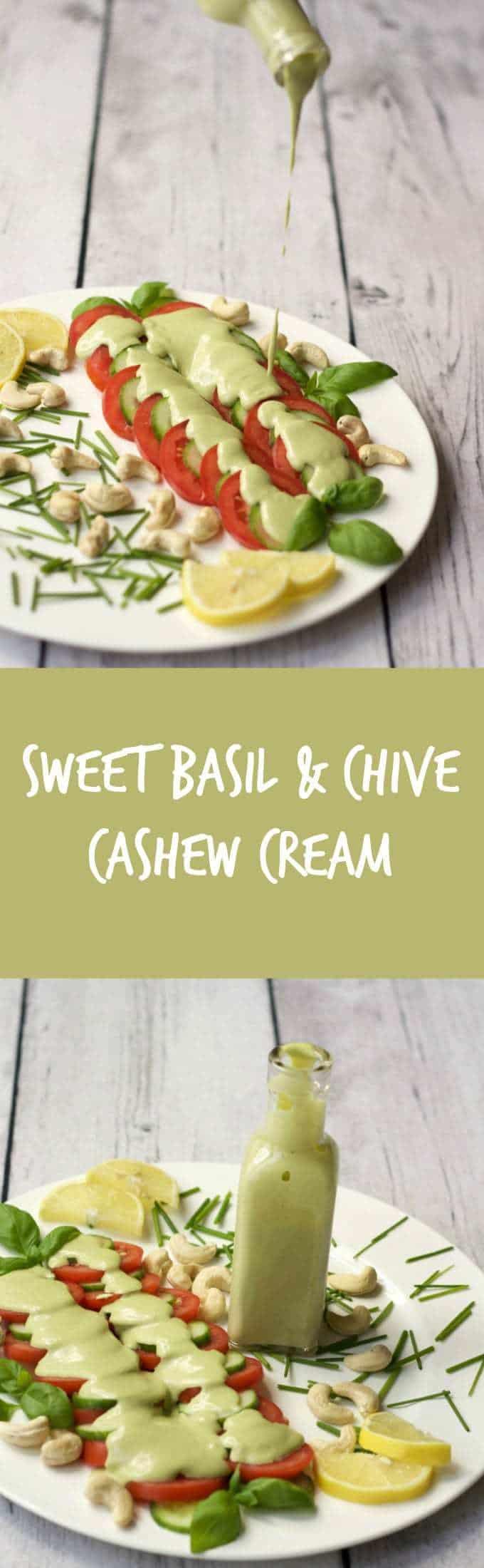 Sweet Basil and Chive Cashew Cream #vegan #lovingitvegan #dairyfree #glutenfree