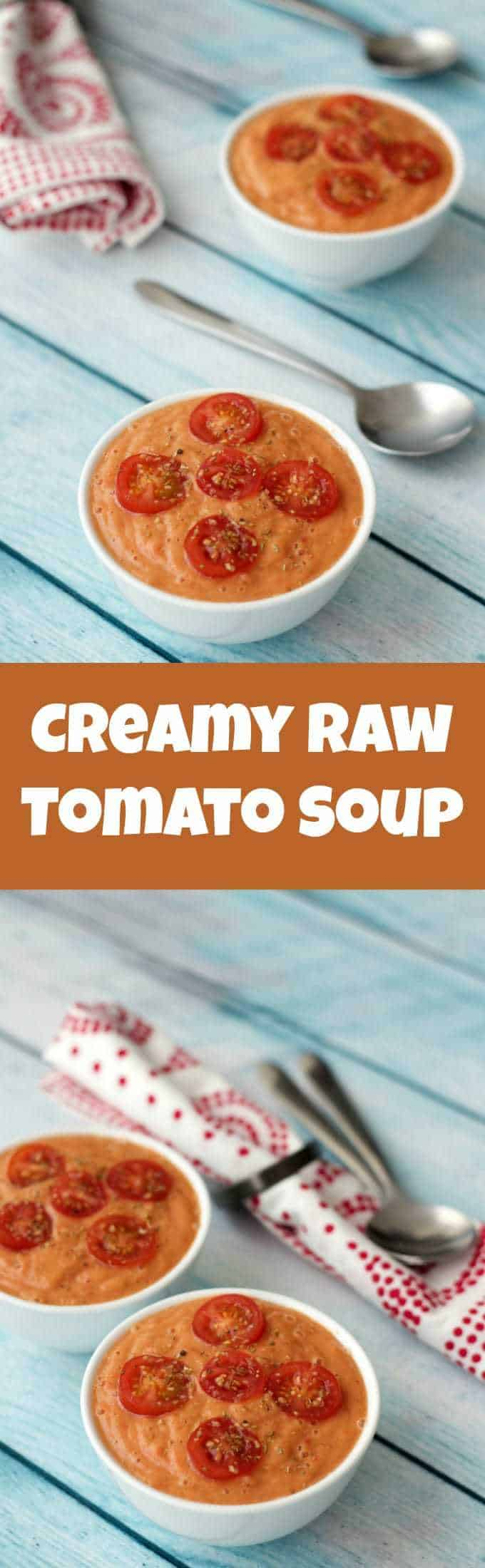 The freshness and flavor of this creamy raw tomato soup simply explodes out of this dish! Raw, vegan and totally delicious, this makes a fabulous appetizer. Vegan | Vegan Soup | Raw Vegan | Vegan Appetizer | Gluten-Free Vegan | lovingitvegan.com