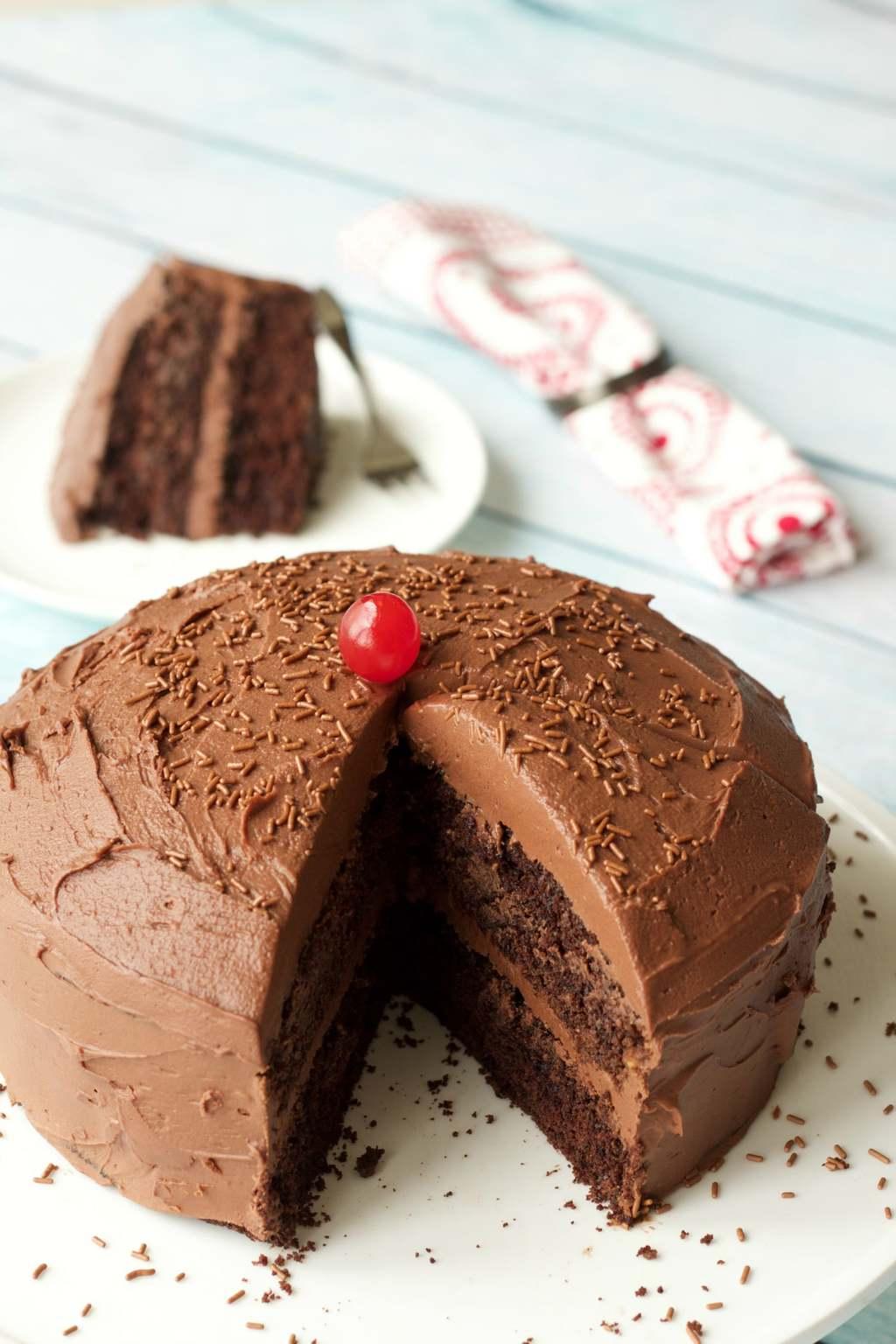 Gluten-Free Chocolate Cake with Vegan Chocolate Ganache Frosting # ...