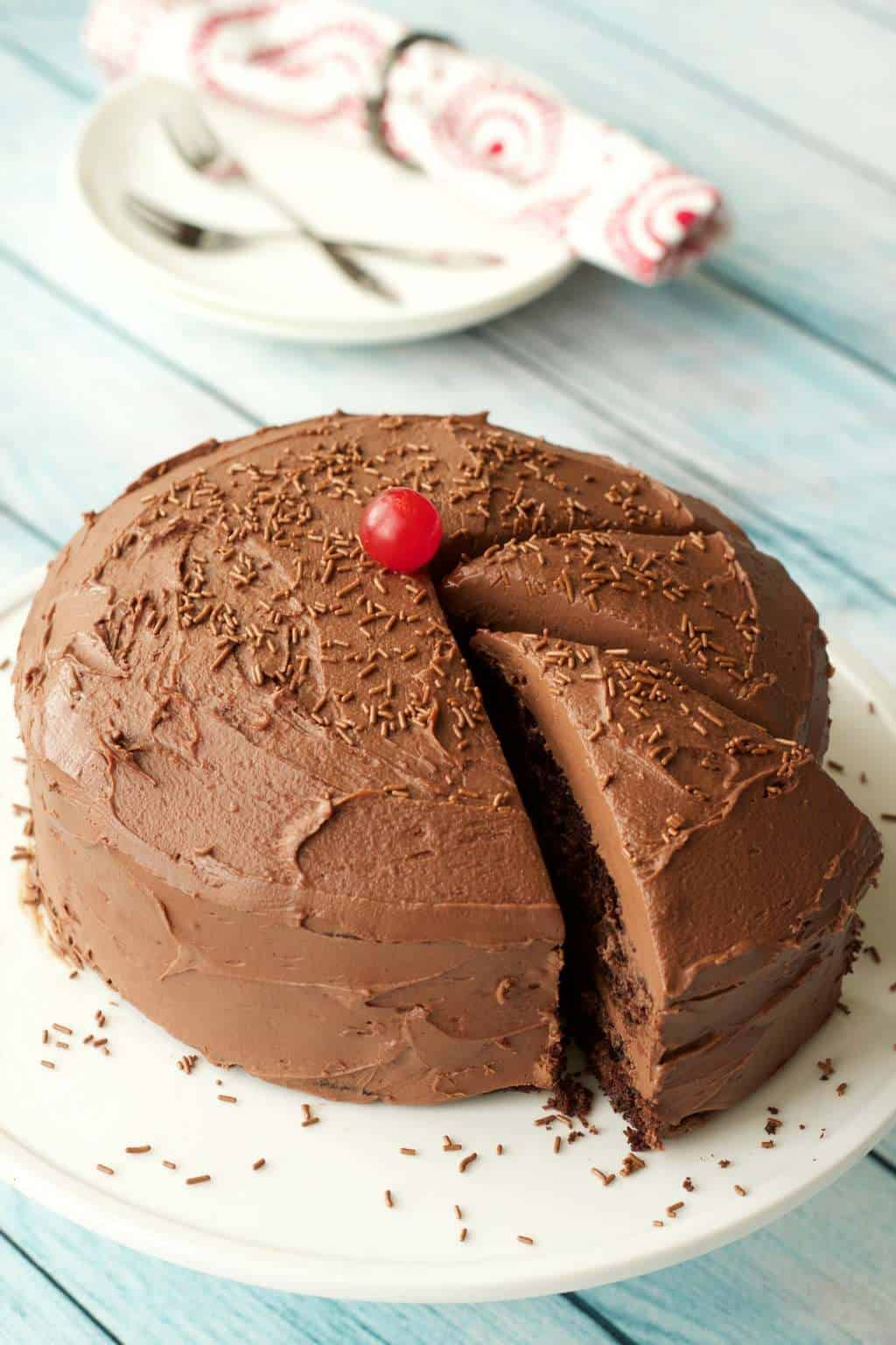 Gluten-Free Chocolate Cake with Vegan Chocolate Ganache Frosting # ...