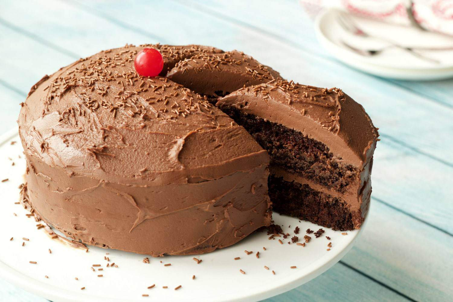Gluten-Free Chocolate Cake With Coconut Oil, Chocolate Frosting and ...