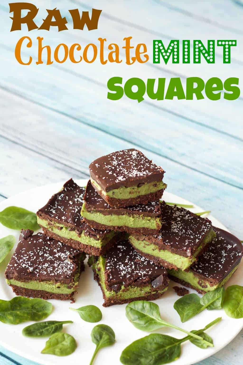 Raw Chocolate Mint Squares #vegan #rawvegan #glutenfree #lovingitvegan #desserts