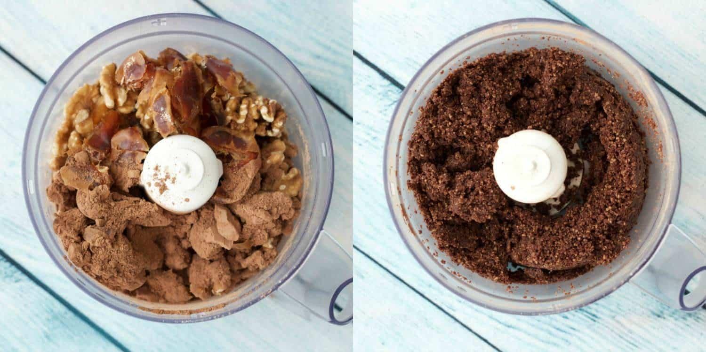 Making Raw Chocolate Mint Squares #vegan #dessert #rawvegan