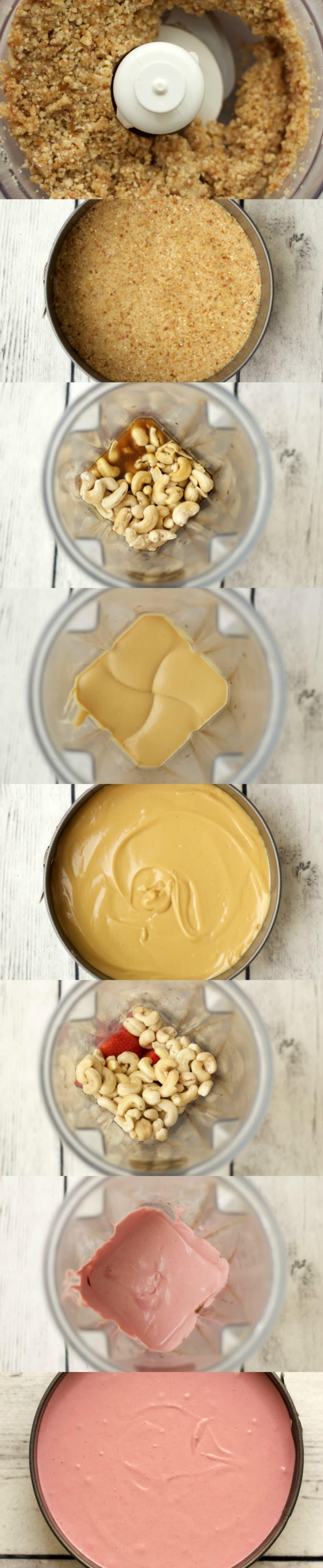 Making Raw Strawberry Cheesecake #vegan #gluten-free #dairy-free