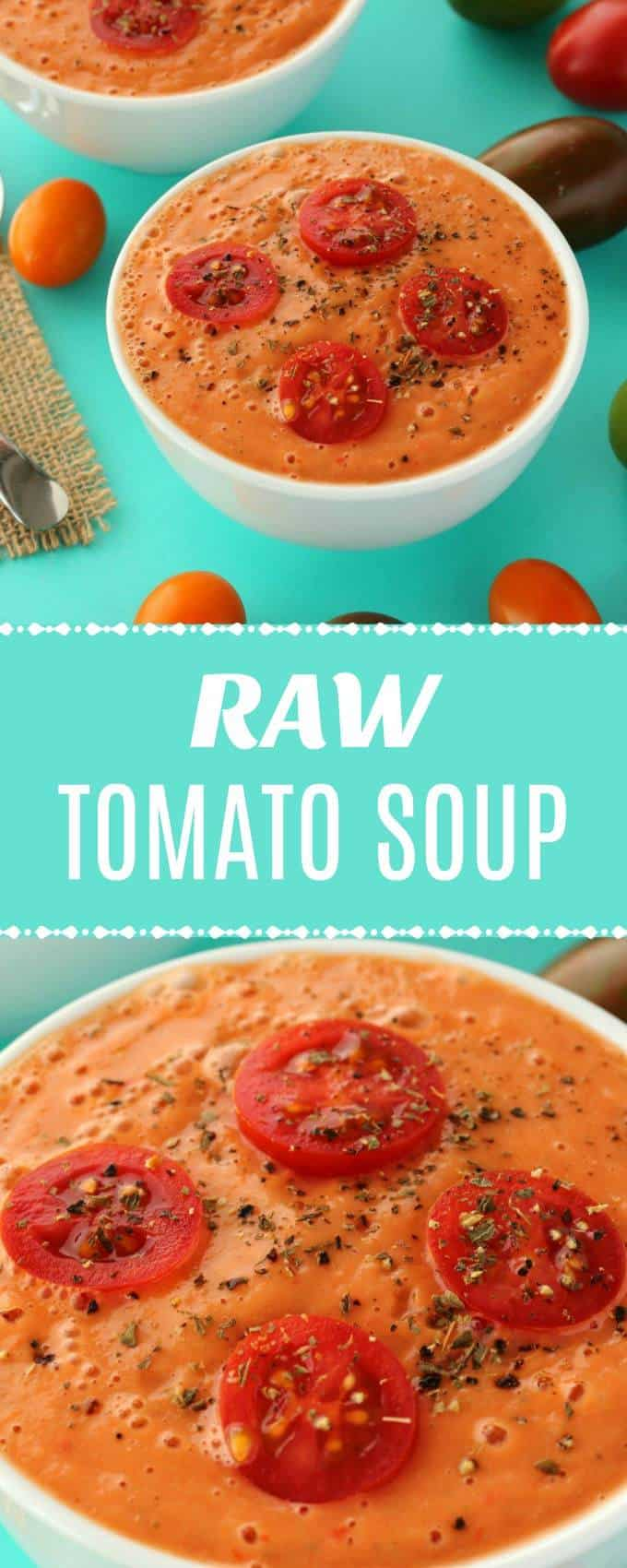 Deliciously creamy raw tomato soup. Made entirely from fresh raw ingredients, this tomato gazpacho can be whipped up in 5 minutes and is as gourmet as it gets. Ideal as an appetizer. Raw, vegan and gluten-free. | lovingitvegan.com