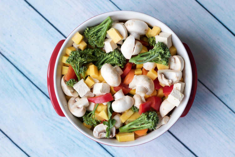 Baked Tofu and Vegetable Casserole with Quinoa #vegan #lovingitvegan #glutenfree #entree #dinner