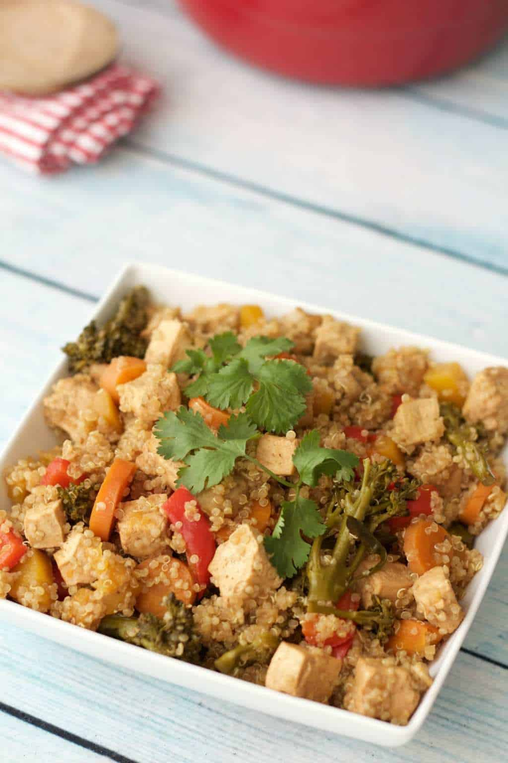 Baked Tofu and Vegetable Casserole with Quinoa - Loving It ...