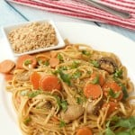 Linguine with Garlic Chili Peanut Sauce