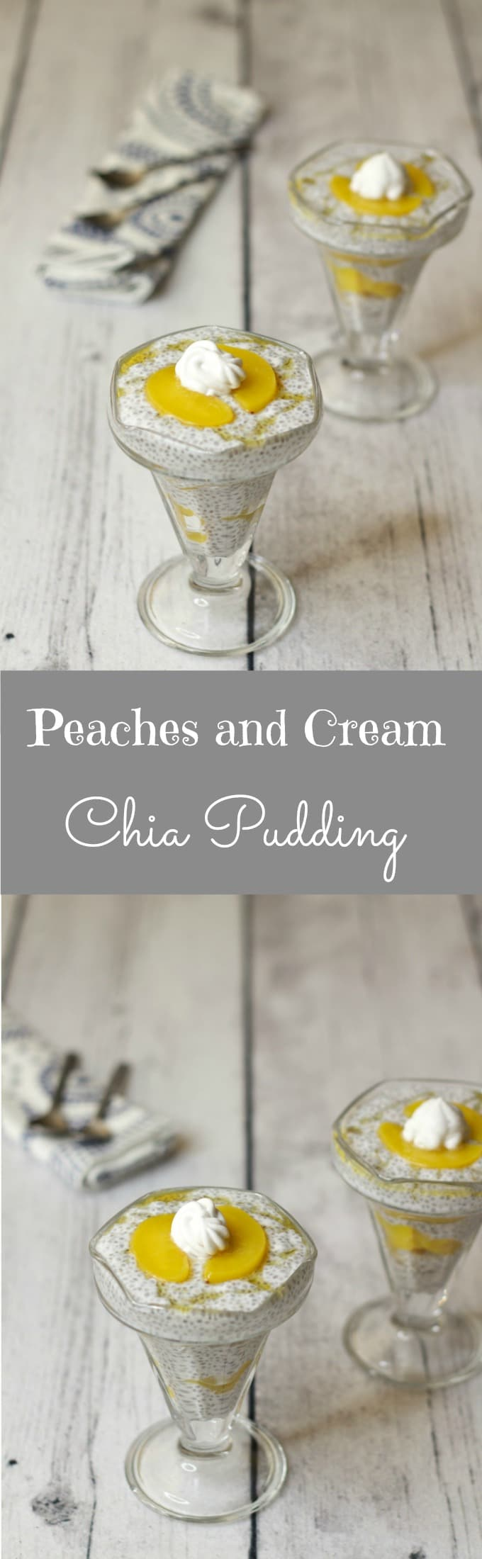 Peaches and Cream Chia Pudding #vegan #dessert #lovingitvegan #dairy-free