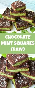 Raw Chocolate Mint Squares