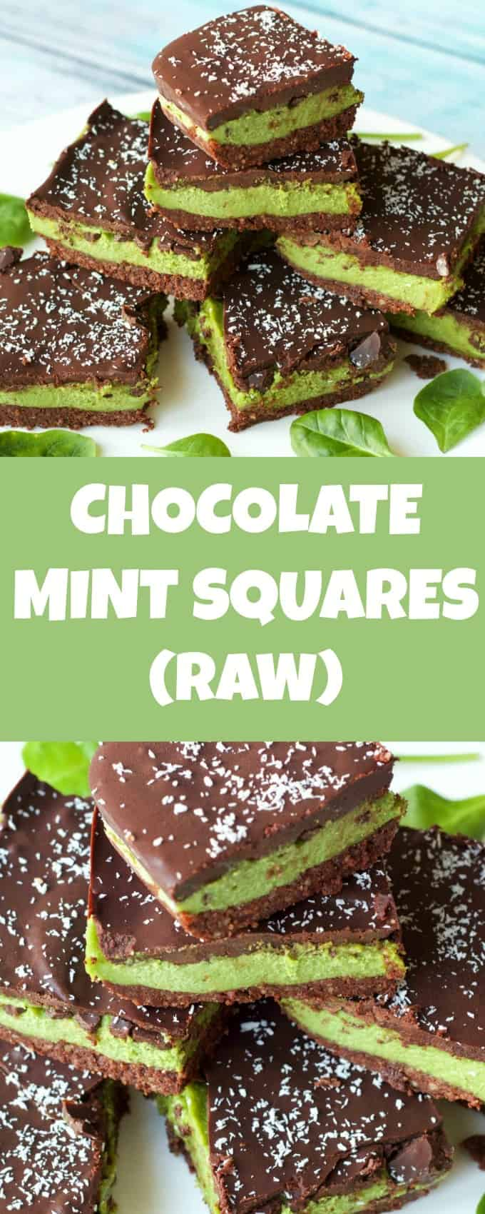 3-layers of raw vegan goodness in these raw chocolate mint squares. A biscuity base, creamy mint center and rich chocolate topping. Raw, vegan & gluten-free | lovingitvegan.com