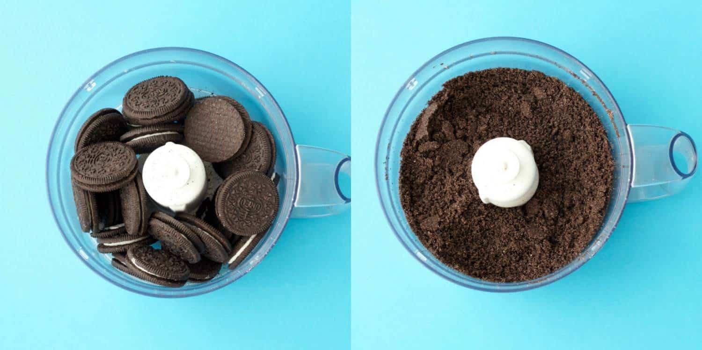 Making a Vegan Chocolate Peanut Butter Oreo Pie #dessert #vegan #lovingitvegan