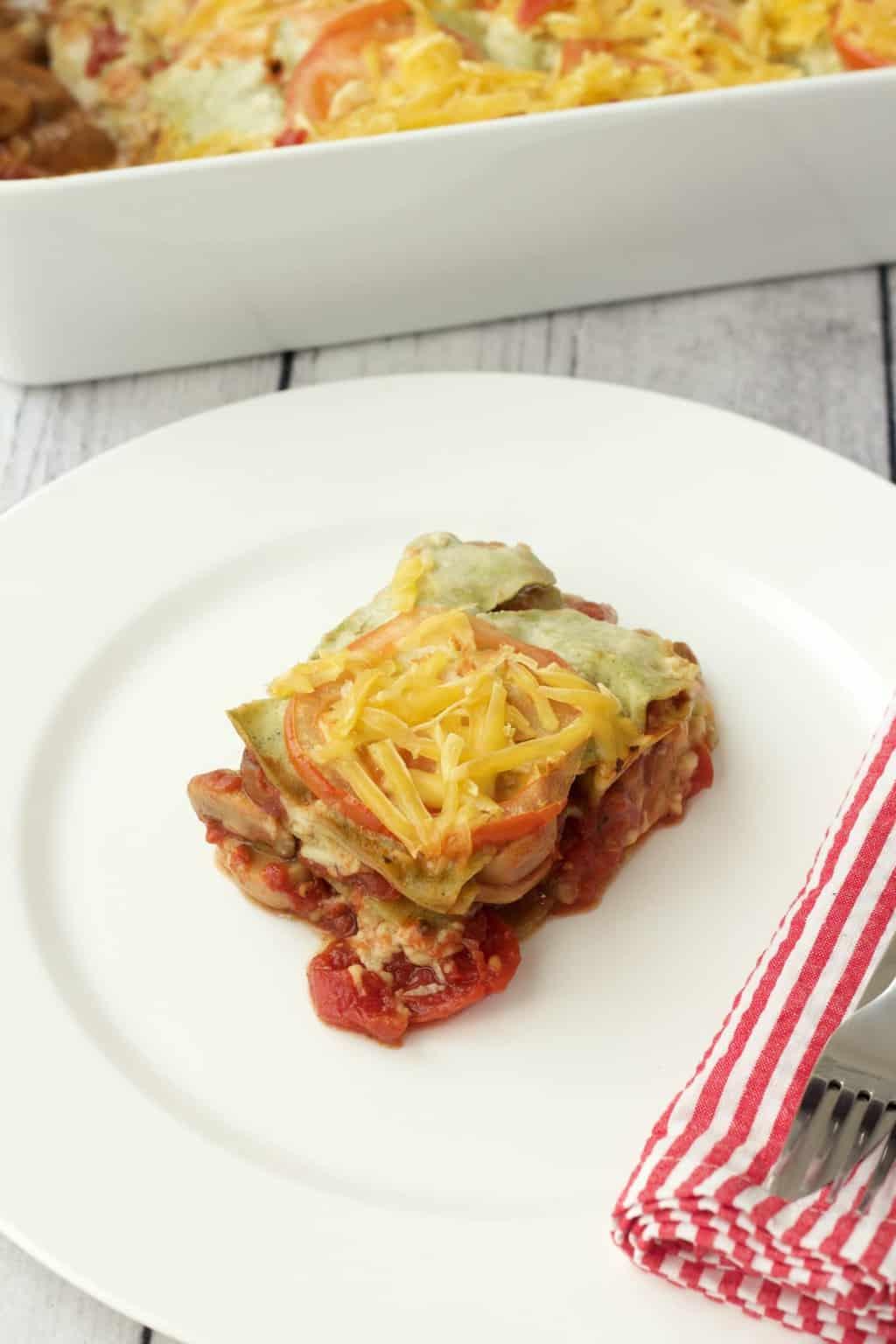 The Easiest Vegan Lasagna #vegan #lovingitvegan #lasagna #entree #dairyfree