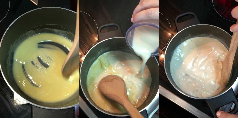 Making a Vegan White Sauce #vegan #bechamel #whitesauce