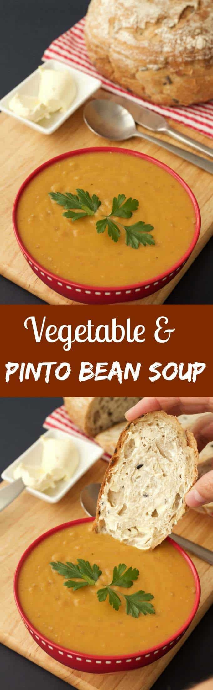 Vegetable and Pinto Bean Soup #vegan #lovingitvegan #glutenfree #dairyfree