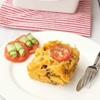 Cheesy Butternut and Sundried Tomato Pasta Bake